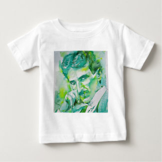 nikola tesla - watercolor portrait.2 baby T-Shirt