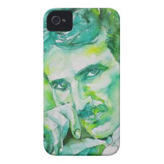 nikola tesla - watercolor portrait.2 iPhone 4 case