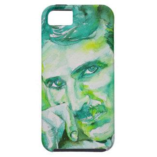 nikola tesla - watercolor portrait.2 tough iPhone 5 case