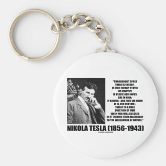 Nikola Tesla Wheelwork Of Nature Kinetic Energy Key Ring