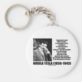 Nikola Tesla Wheelwork Of Nature Kinetic Energy Basic Round Button Key Ring
