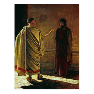 Nikolai Ge- What is Truth. Christ and Pilate Postcard