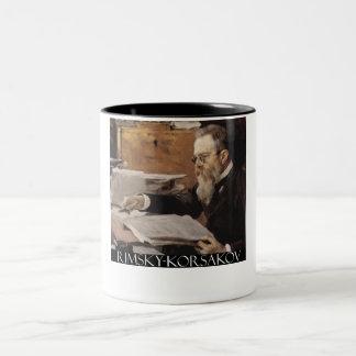 Nikolai Rimsky-Korsakov items Two-Tone Coffee Mug
