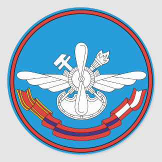 Nikolai Zhukovsky Air Force Engineer Militar Classic Round Sticker