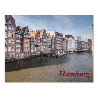 Nikolaifleet, Hamburg, Germany Postcard