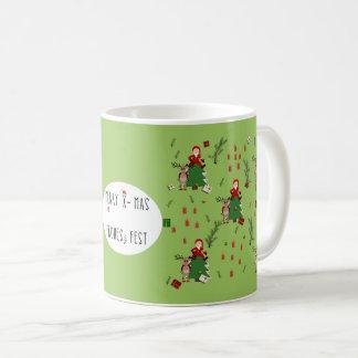 nikolaus with moose and text coffee mug