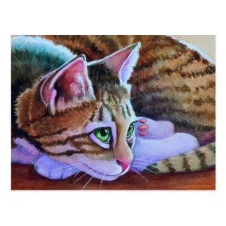 Nikos Sorta Tabby Cat Postcard