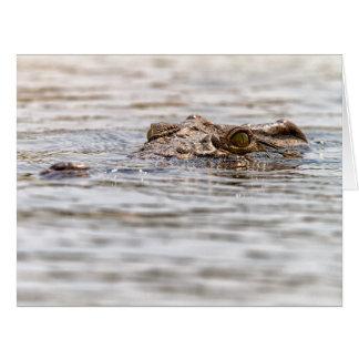 Nile Crocodile Large Greeting Card