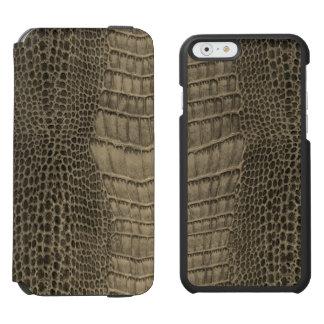 Nile Crocodile Classic Reptile Leather (Faux) Incipio Watson™ iPhone 6 Wallet Case
