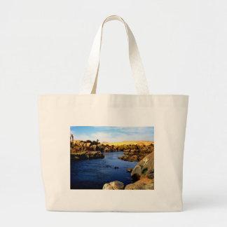 Nile River in Aswan river - Sahara Desert Canvas Bags