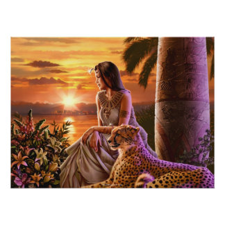 """Nile Sunset"" Canvas Art Poster"