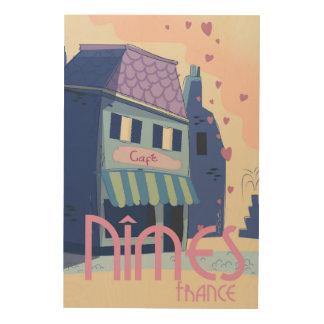Nîmes France travel poster print.
