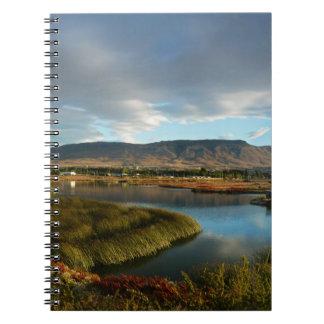 Nimez Lagoon at golden hour Notebook