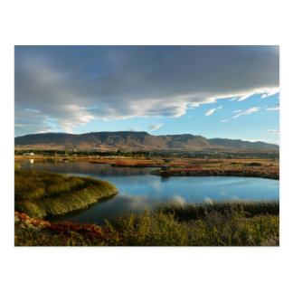 Nimez Lagoon at golden hour Postcard