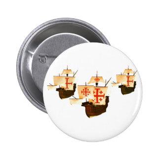 Nina Pinta & Santa Maria 6 Cm Round Badge