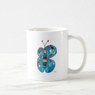 Nina Rainbow Butterfly with Spots Coffee Mug