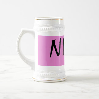 Nina text girls name with pink background beer stein
