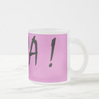 Nina text girls name with pink background frosted glass coffee mug