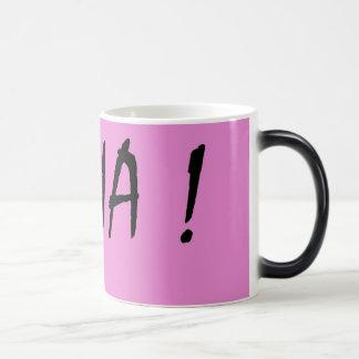 Nina text girls name with pink background magic mug
