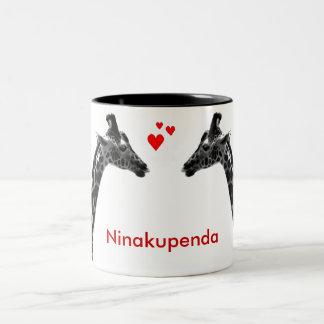 "Ninakupenda ""I love you"" giraffe mug"