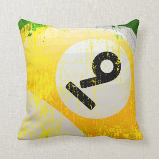 Nine Ball Throw Pillow