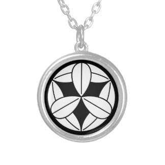 Nine bamboo grasses silver plated necklace