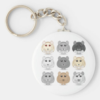 Nine Chinchilla Design Keychain