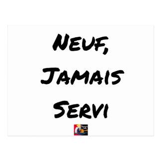 NINE, EVER SERVED - Word games - François City Postcard