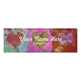 Nine hearts Skinny Business Card