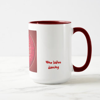 Nine ladies dancing mug