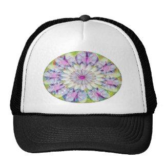 Nine Lightshade Blue n Purple Stars n White Flower Cap
