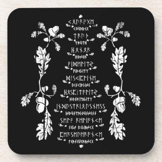 Nine Noble Virtues Coaster Set of 6