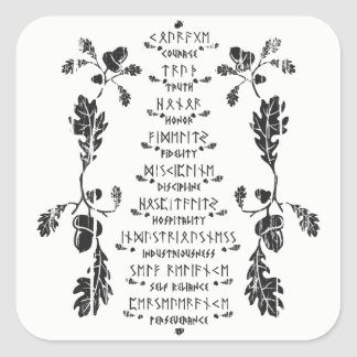 Nine Noble Virtues Sticker