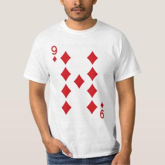 Nine of Diamonds Playing Card T-Shirt