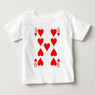 Nine of Hearts Playing Card Baby T-Shirt