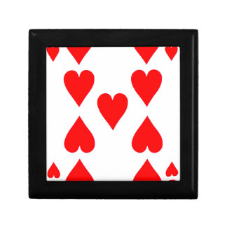 Nine of Hearts Playing Card Gift Box