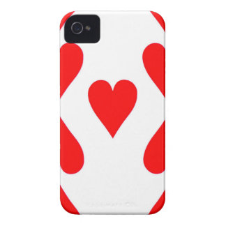 Nine of Hearts Playing Card iPhone 4 Case-Mate Cases