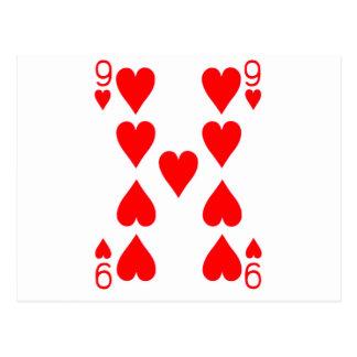 Nine of Hearts Playing Card Postcard