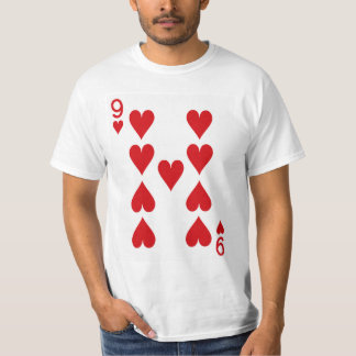 Nine of Hearts Playing Card T-Shirt