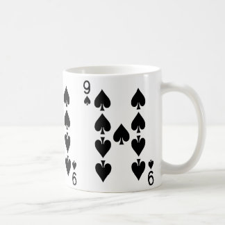 Nine of Spades Playing Card Coffee Mug