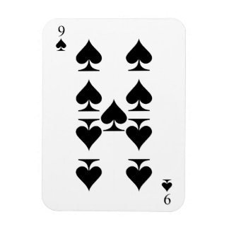 Nine of Spades Rectangular Photo Magnet
