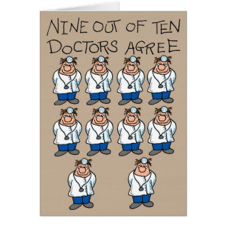 Nine of Ten Doctors Card
