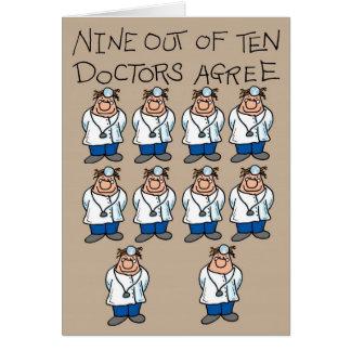 Nine of Ten Doctors Card
