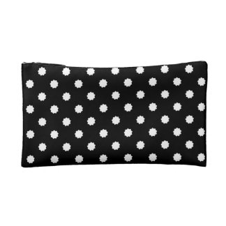 Nine-pointed star black and white bag cosmetic bags