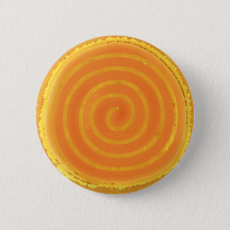 Nine Ray Yellow Spiral Sun Symbol 6 Cm Round Badge