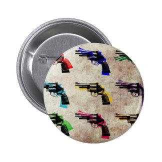 Nine Revolvers 6 Cm Round Badge