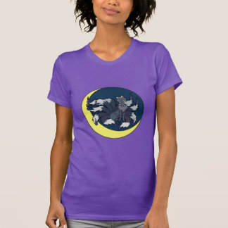 Nine Tailed Silver Fox (Kitsune) T-Shirt