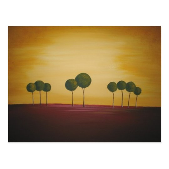 Nine Trees at Sunset Postcard