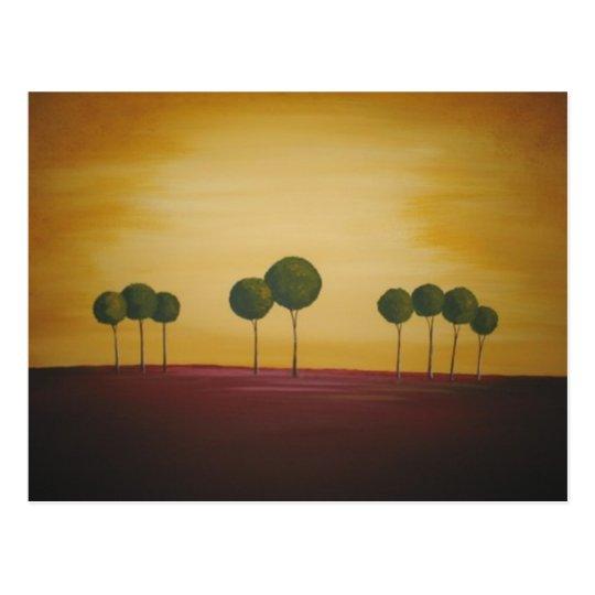 Nine Trees at Sunset Postcard