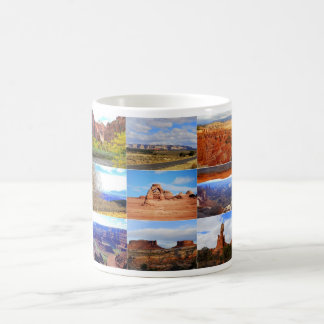 Nine Utah Landscape Collage Icons Coffee Mug